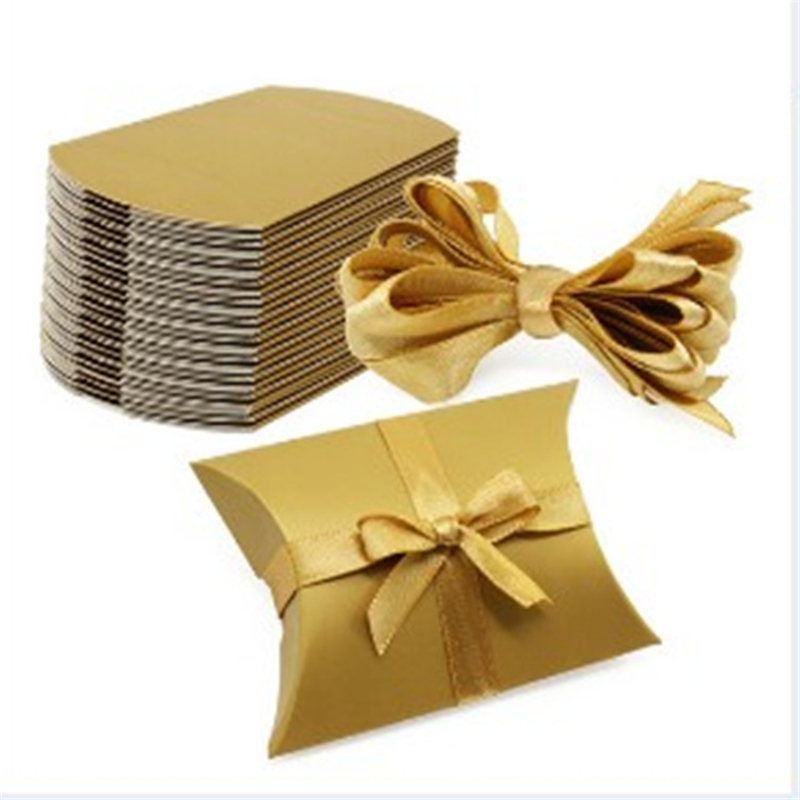 10pc Favor Candy Gift Box For Chocolate Cookies Christmas Wedding Home Party Baby Shower Birthday Packaging Supply Pillow Boxes