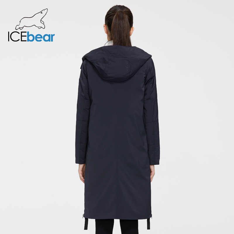ICEbear 2020 여성 봄 재킷 품질 여성 코트 긴 여성 의류 브랜드 의류 GWC20066I