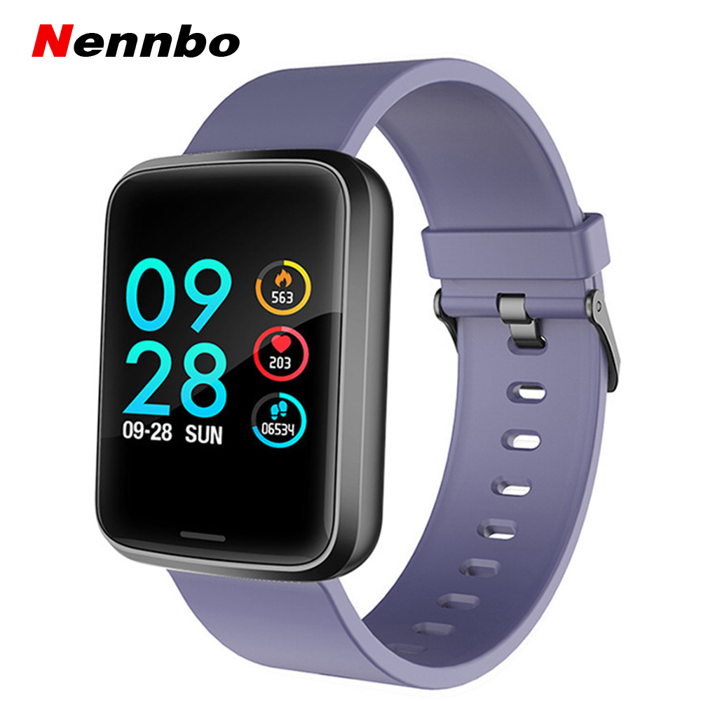 New H19 Smart Watch Color Screen Waterproof Bluetooth Sports Watch Healthy Heart Rate Blood Pressure Monitor Pedometer