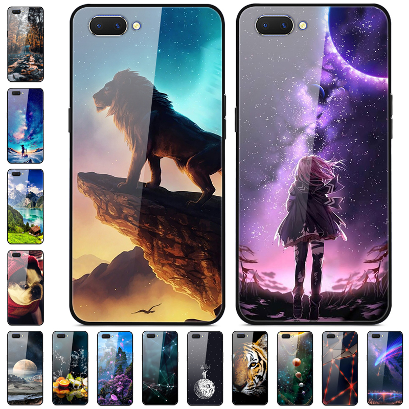 For <font><b>OPPO</b></font> <font><b>A3S</b></font> <font><b>Case</b></font> Tempered <font><b>Glass</b></font> hard Phone <font><b>cases</b></font> For <font><b>OPPO</b></font> A5 <font><b>Case</b></font> Protective Bumper Coque For <font><b>OPPO</b></font> AX5 OPPOA5 A 3S A3 S Cover image