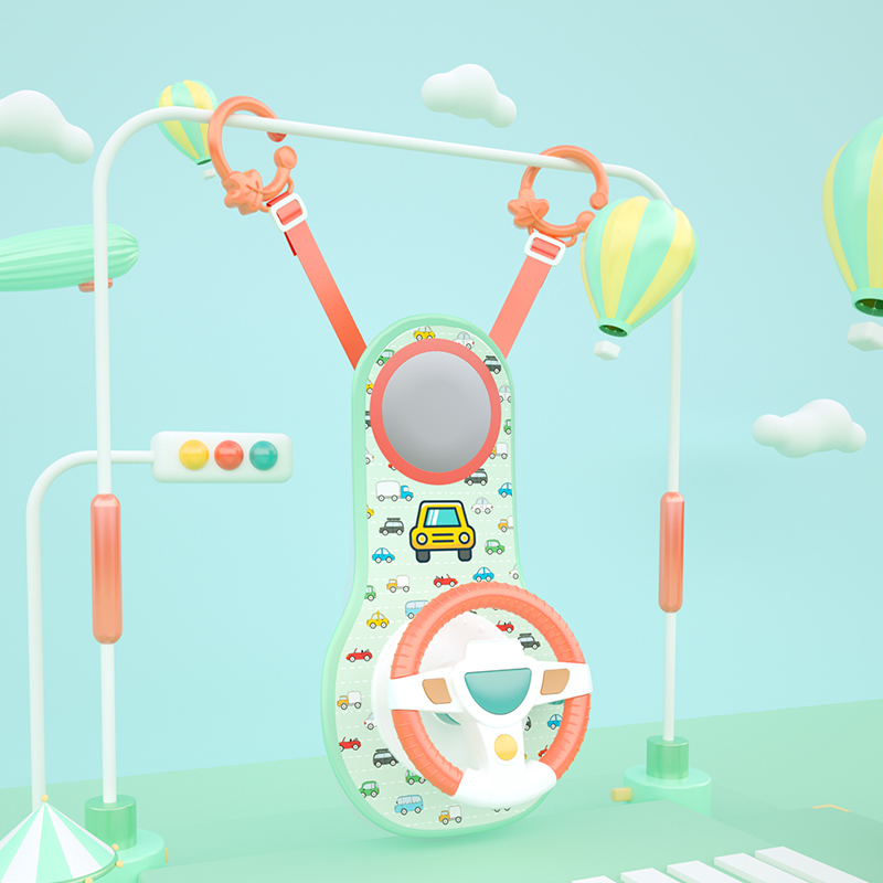 Baby Kids Eletric Simulation Steering Wheel Musical Developing Educational Toys Car Seat Early Education Sounding Infant Kid Toy 2