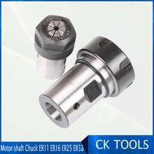 ER20 collet Motor shaft Chuck ER ER11 ER16 ER25 ER32 spindle Extension Rod tool holder CNC Milling drill chuck B10 12 18 цена 2017