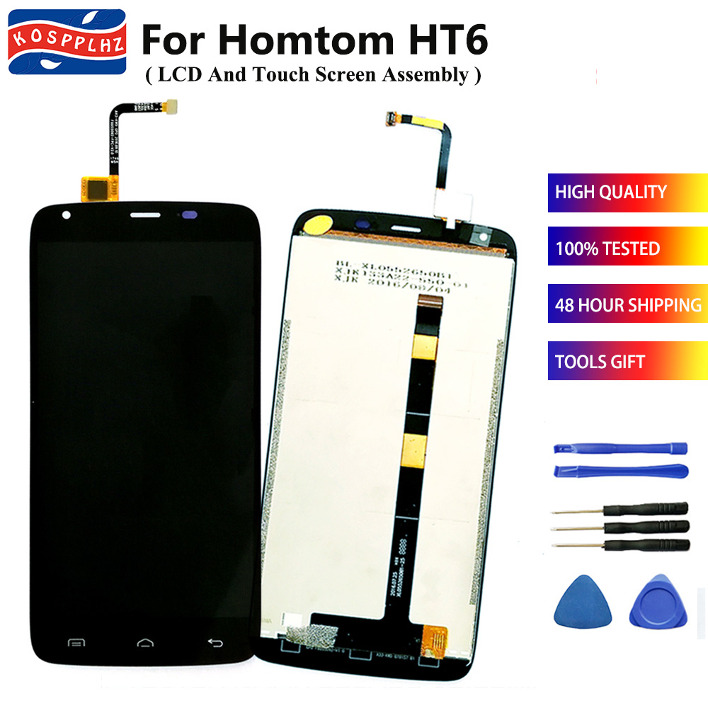 KOSPPLHZ Original For Homtom HT6 LCD Display + Touch Screen Digitizer Assembly Replacement 5.5 inch For Homtom H T6 Cell Phone(China)