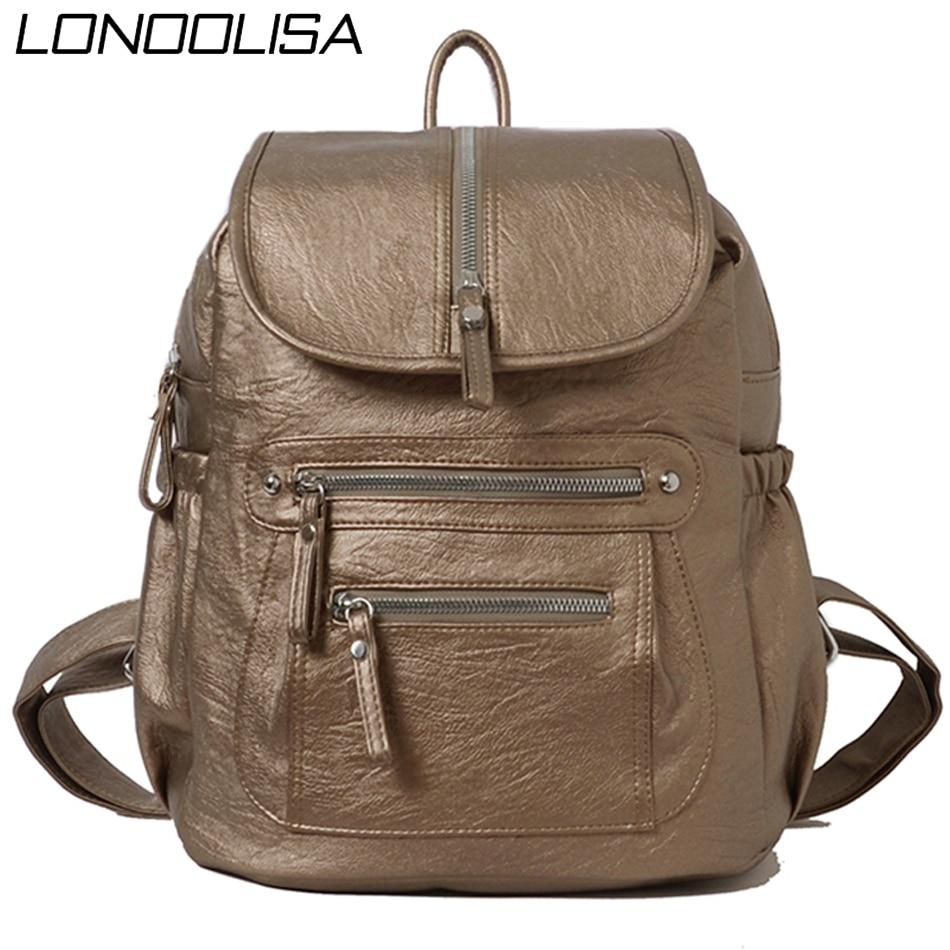 Mochila Feminina Bagpack Women Leather Backpack Designer Shoulder Bags For Women 2020 Back Pack School Bags For Teenage Girls