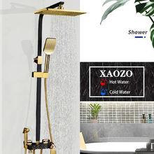 Латунный душевой набор для ванной комнаты черный золотой белый