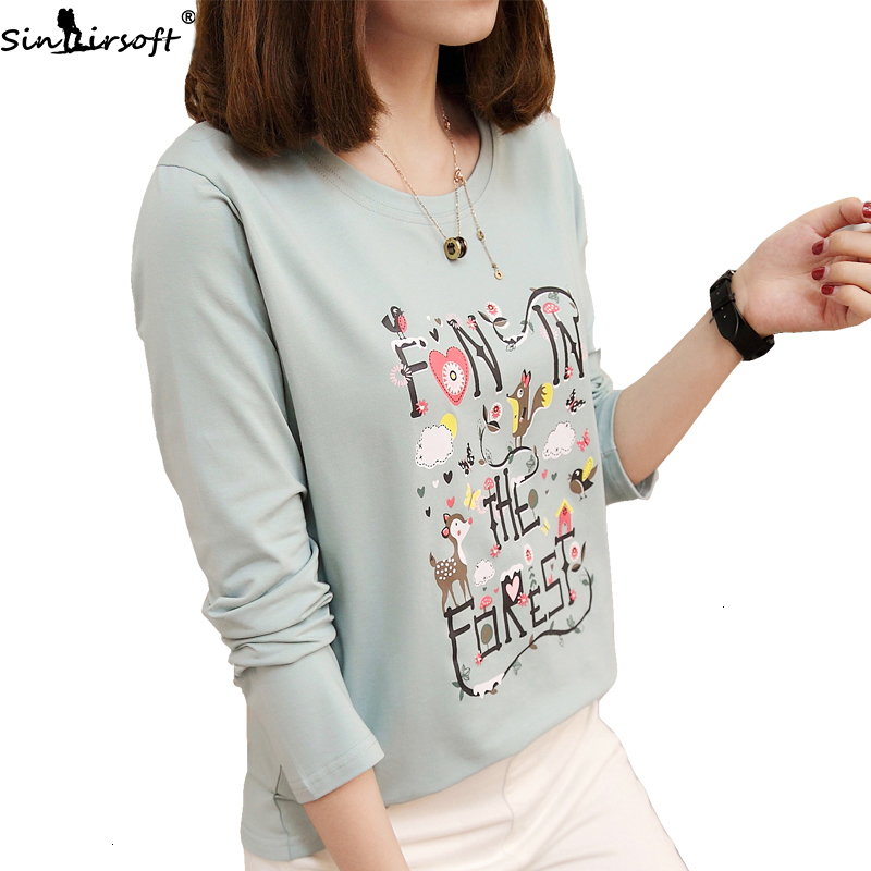 Tsmile Women Crew Neck Activewear Long Sleeve Bee Kind Letter Print Solid Color Slim Fit Casual Loose Blouse Tops