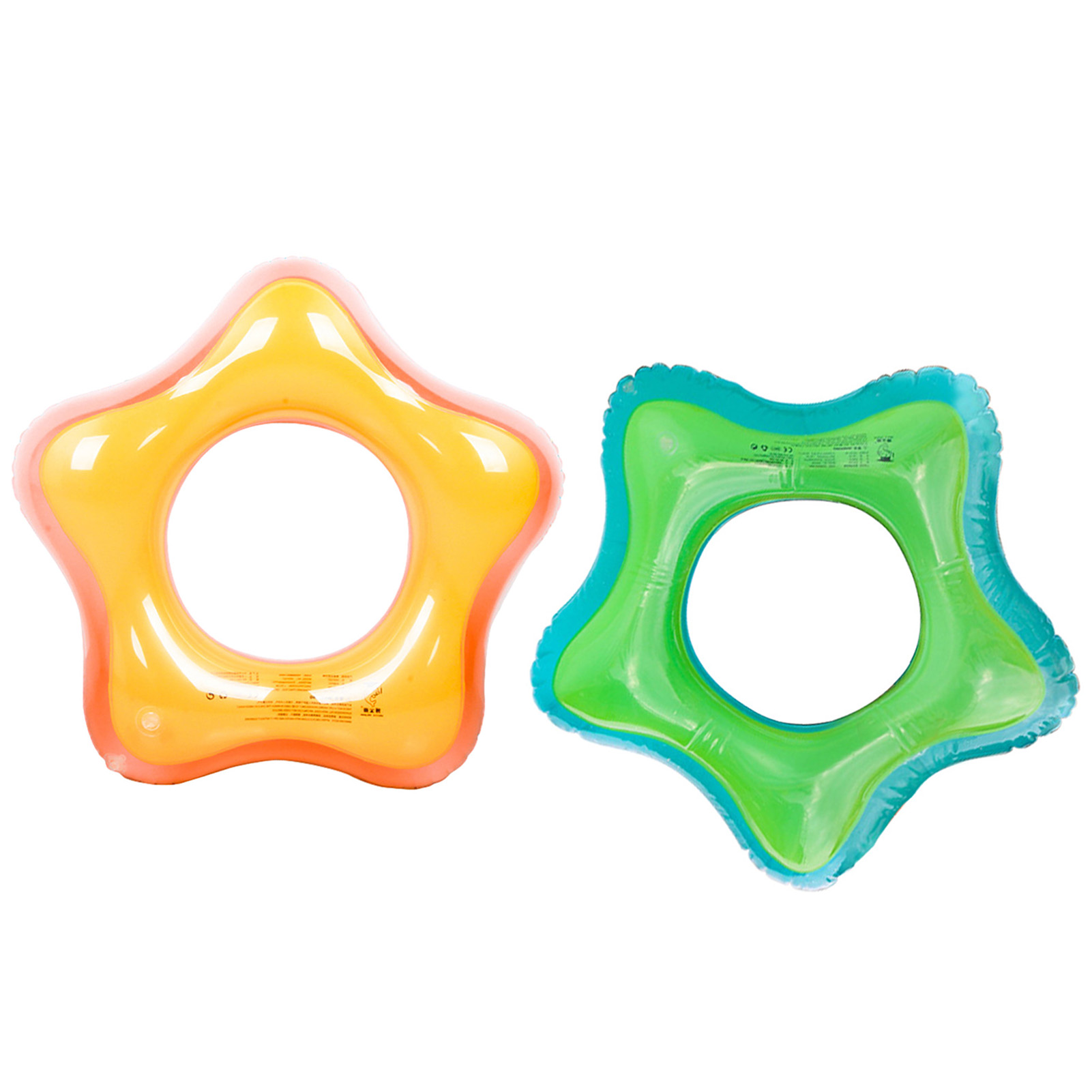 Inflatable Pool Floats Swim Tubes Rings Summer Beach Water Float Star-shaped Inflatable Swimming Rings For Kids Adults