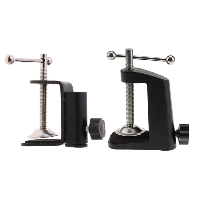 2020 New Aluminum Alloy Iron Cantilever Bracket Clamp for Mic Stand Table Lamp Desk Clip