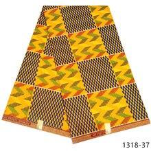 2020 mais recente africano cera kente tecidos 6 jardas ancara africano cera imprime atacado poliéster ghana tecido de cera para vestido 1318