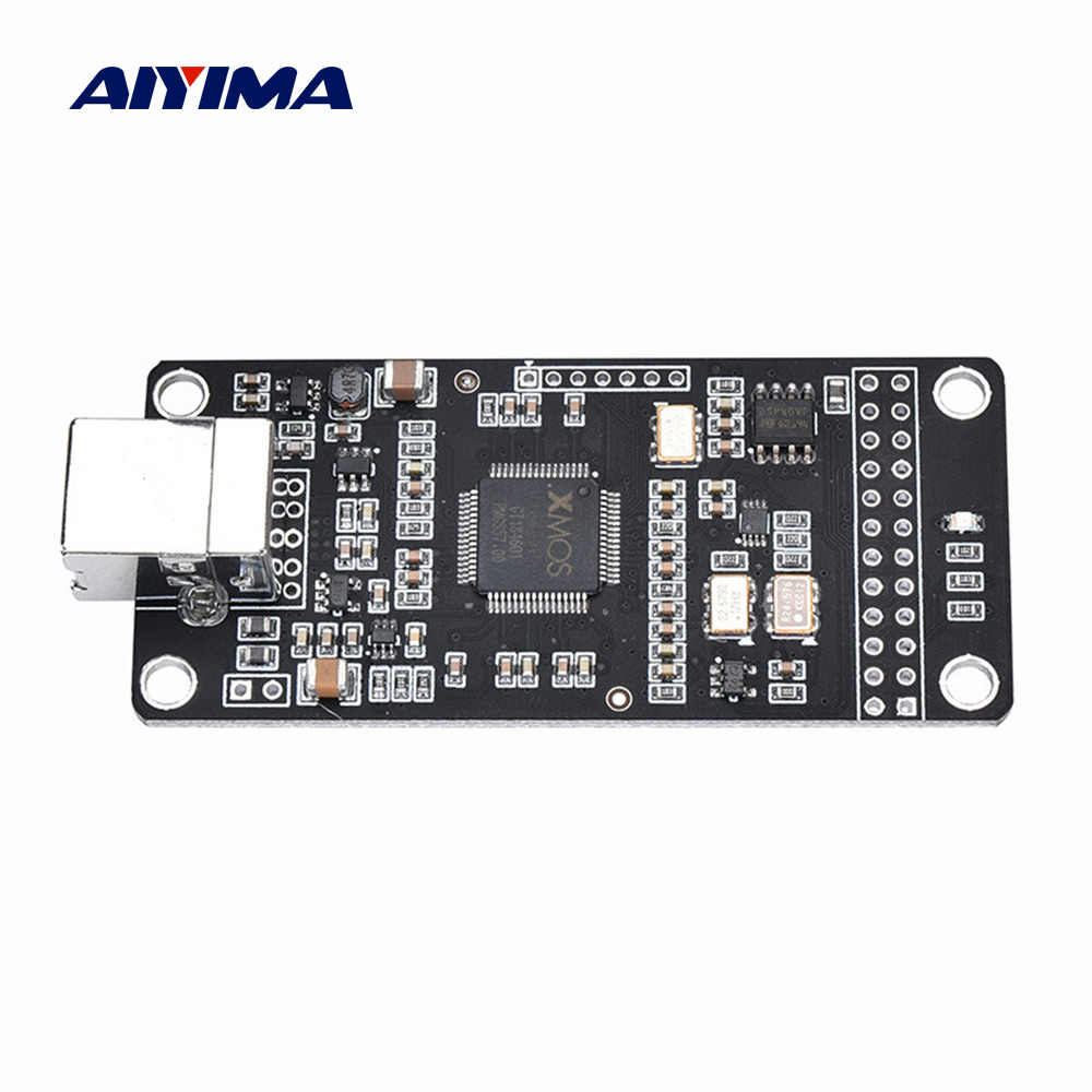 AIYIMA ES9023 XMOS XU208 DSD USB Decoder Digital Audio Interface U8 Upgrade Asynchronous Amanero Module For IIS I2S Decoder DIY