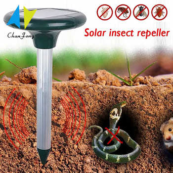 Outdoor Solar Powered Ultrasonic Pest Rodent Mouse Mole Mosquito Repeller Repellent Yard Garden - discount item  40% OFF Garden Supplies