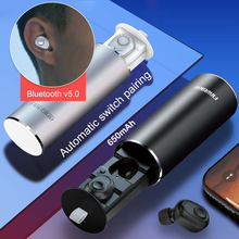 Bluetooth V5.0  Wireless Magnetic USB Charging Earphone Noise Reduce Waterproof Headphone Auto Pairing with Case