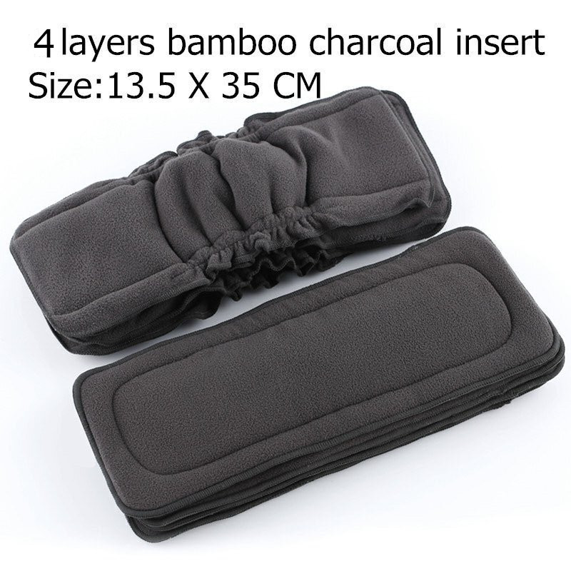 Mat Insert Changing-Liners Baby-Cloth-Diaper Bamboo-Charcoal Reusable Simfamily 4layer