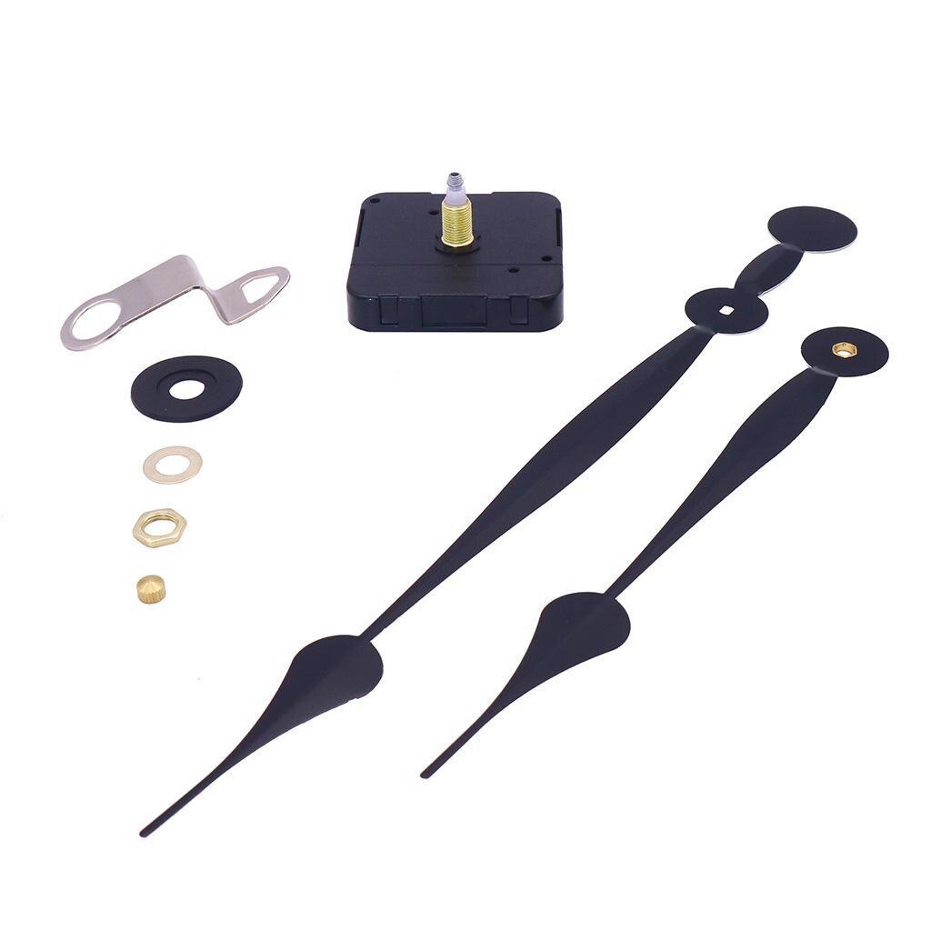 Quartz bricolage horloge murale mécanisme de mouvement à piles bricolage pièces de réparation remplacement longues mains de pelle