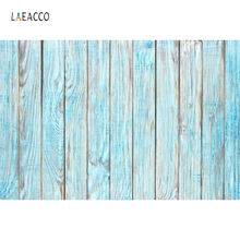 Laeacco Fade Blue Wood Boards Planks Wooden Texture Photography Backdrops Vinyl Customs Photo Backgrounds Props For Studio