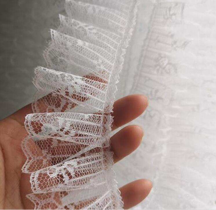 ywzatgits 3m//lot 9.5cm white//black Lace Trim Embroidered Fabric Ribbons DIY