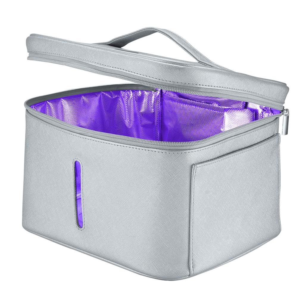 2 In1 8W 12 LED UV Disinfection Light Storage Box Smart Sterilizer Lamp Case Bag Clothes/Towels Sterilising Cabinet