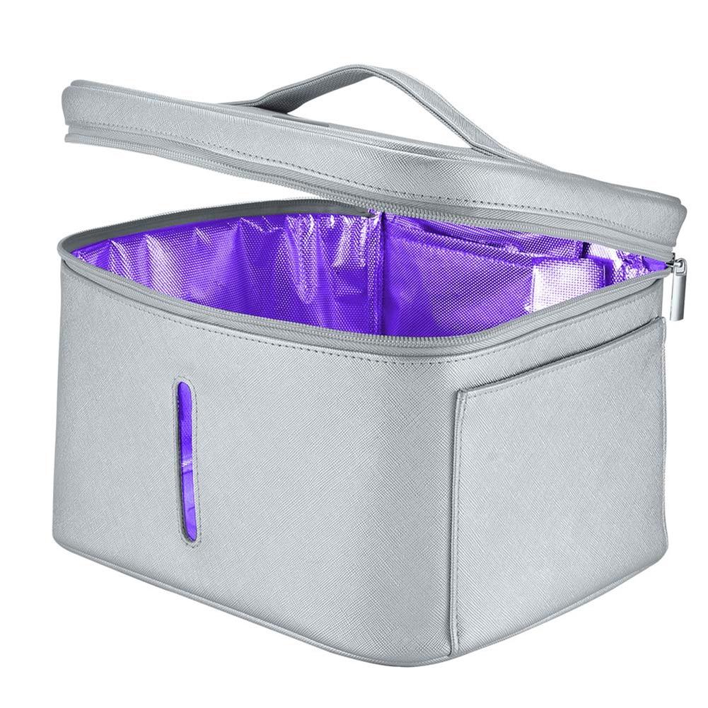 2 In1 8W 12 LED UV Disinfection Light Storage Box Smart Sterilizer Lamp Case Bag Clothes/Towels Sterilising Cabinet