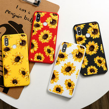Phone Case For Xiaomi Pocophone F2 F1 Mi Redmi Note 10 Lite 9S 9 10X 8T 8 T 7 5 6 K20 K30 Pro Max SE Sunflower Silicon Cover Bag(China)