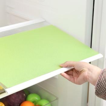 4pcs Reusable Refrigerator Pad Antifouling Moisture Kitchen Cabinet Pad Non-Slip Waterproof Refrigerator Mats Fridge Pads