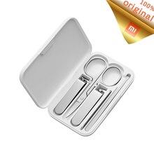 Xiaomi mijia 5 pçs/set conjunto de ferramentas de manicure, conjunto de cortador de unha portátil para manicure e pedicure, kit de viagem, de aço inoxidável