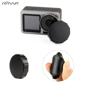 Image 4 - SOONSUN Tempered Glass Screen Protector Scratch resistant Protective Lens Film + Silicone Cap Cover for DJI Osmo Action Camera