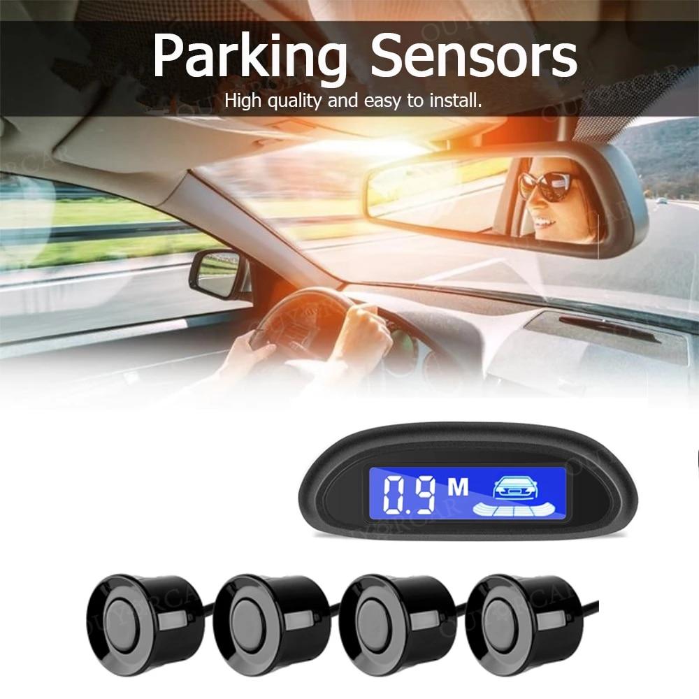 Car Auto Parktronic LED Parking Radar With 4 Parking Sensors Backup Car Parking Radar Monitor Detector System Backlight Display 2