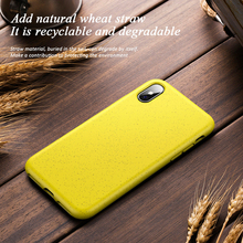 Heyytle Straw Wheat Pattern Case For iPhone X XS MAX XR 8 7 Plus Silicone Full Cover 7Plus 8Plus Soft Cases Shockproof Coque