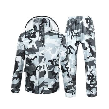 Waterproof Pants Raincoat Jacket Adult Set Outdoor Hiking Raincoat With Pants Survival Poncho Impermeable Rain Poncho JJ60YY