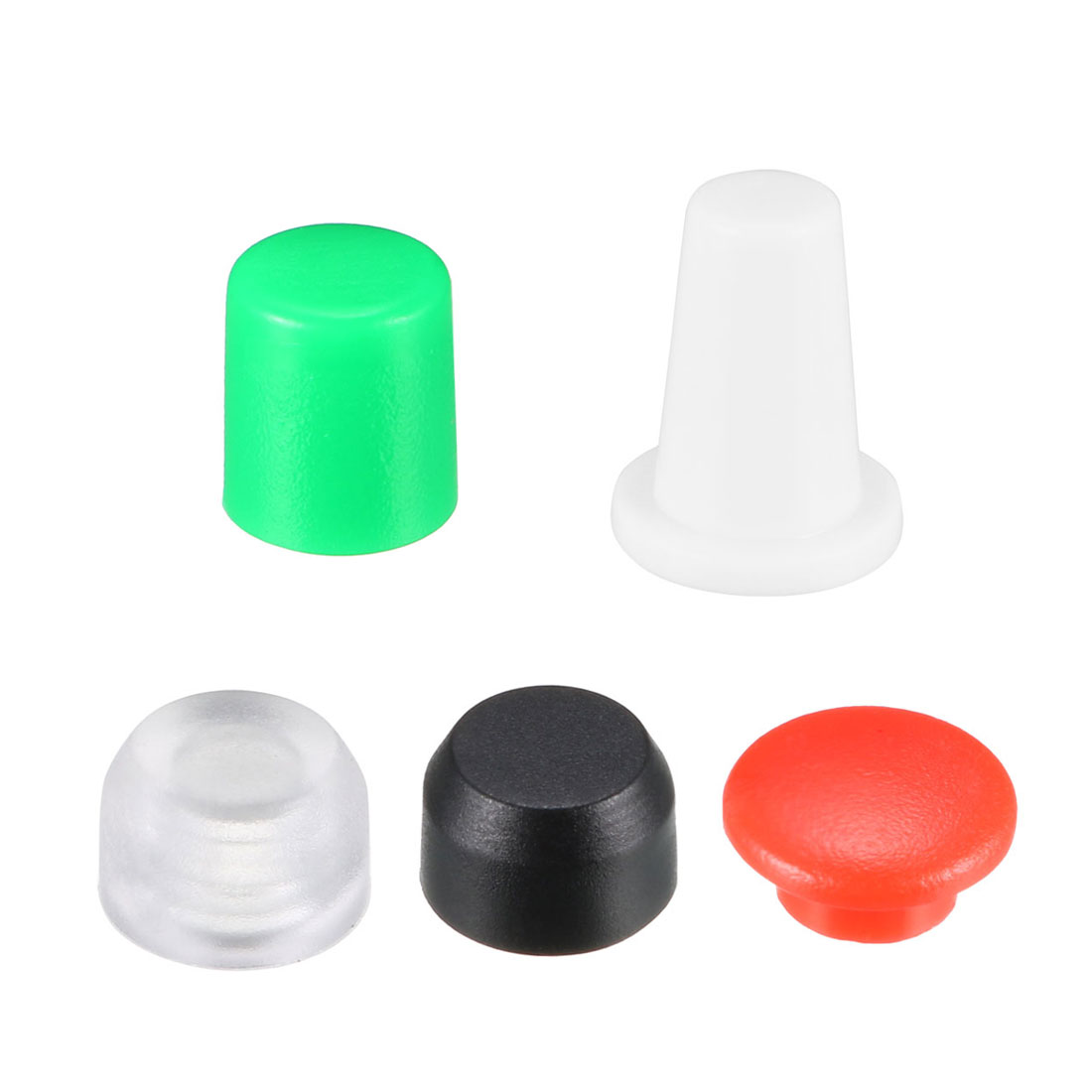 Uxcell 20/25Pcs Push Button Tactile Switch 3/3.1/3.3mm Hole Dia. Plastic Caps Protector For 6x6 Micro Switch