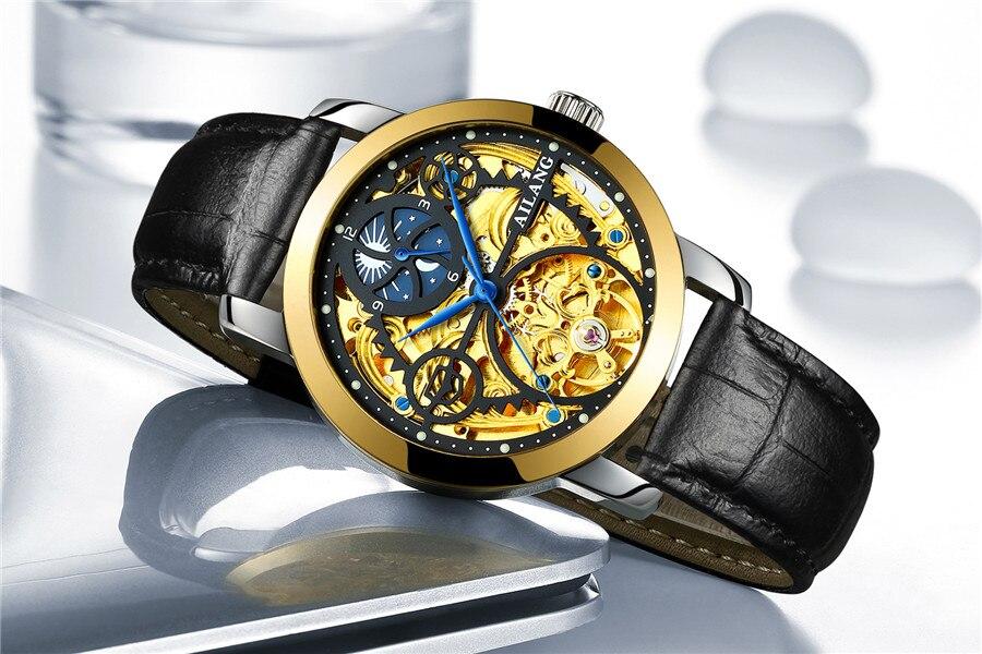aço inoxidável relógio masculino marca superior luxo