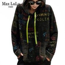 Max LuLu 2019 Korean Fashion Brand Ladies Punk Denim Clothes Womens Hooded