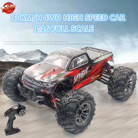 Wireless Control Kids Electric Remote Control Off Road Toys Car Model 1:16 40KM/H 2.4G High Speed Brushed RTR Big Wheels RC Car