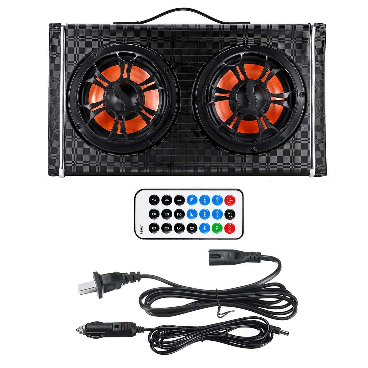 6 cal 600W pod siedzeniem Dual Bass Subwoofer samochodowy bezprzewodowy głośnik bluetooth samochodowy wzmacniacz Stereo samochodowy sprzęt Audio moc odtwarzacz Radio FM