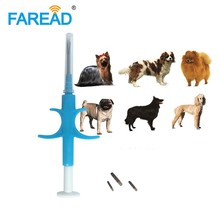 Free shipping 1.4x8mm/2*12mm Bioglass tag FDX B dog chip Animal implant ISO RFID microchip injector vet syringe pet transponder