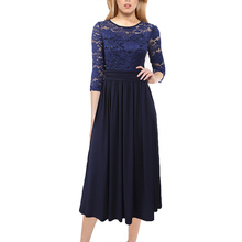 Vfemage Womens Elegant Sequin Lace Ruched Smocked Cocktail Christmas Party Wedding Flare A Line Skater Midi Mid Calf Dress 205