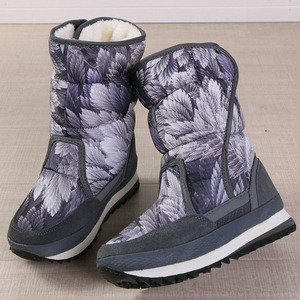 Image 4 - Women winter boots platform non slip waterproof winter shoes women ankle boots thick fur warm women snow boots for  40 degrees