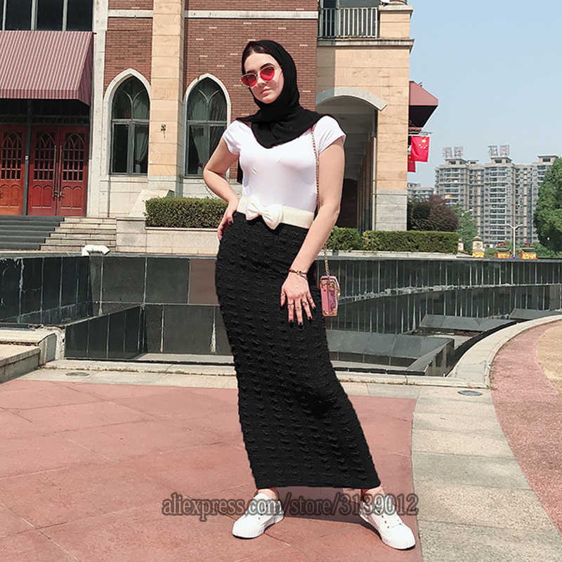 Faldas Mujer Moda 2019 Winter Abaya Moslim Hoge Taille Bodycon Maxi Potlood Lange Rok Jupe Longue Femme Rokken Vrouwen Kleding
