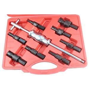 Image 4 - 9pc kit buraco cego slide martelo piloto extrator rolamento interno extrator kit de remoção