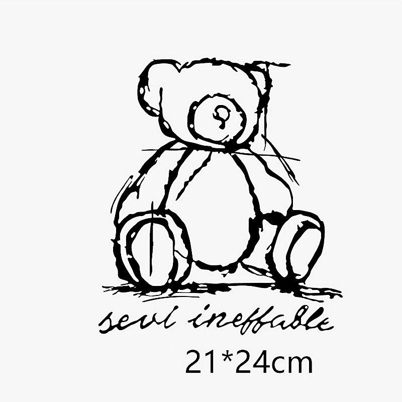 Новинка, термонаклейки с мультяшным медведем для «сделай сам», термотрансферные наклейки для одежды, футболок, термотрансферные наклейки, ...
