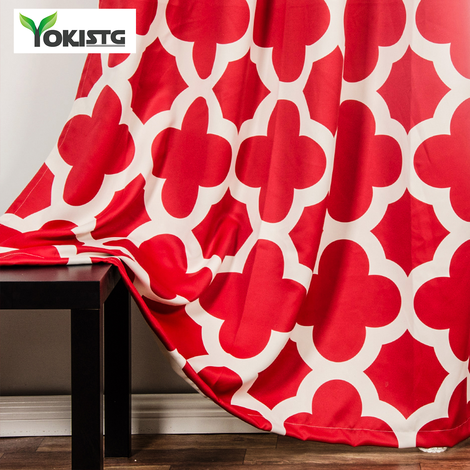 YokiSTG Modern Quatrefoil Pattern Blackout Curtains For Living Room The  Bedroom Window Treatment Shades Blinds Curtains Panel