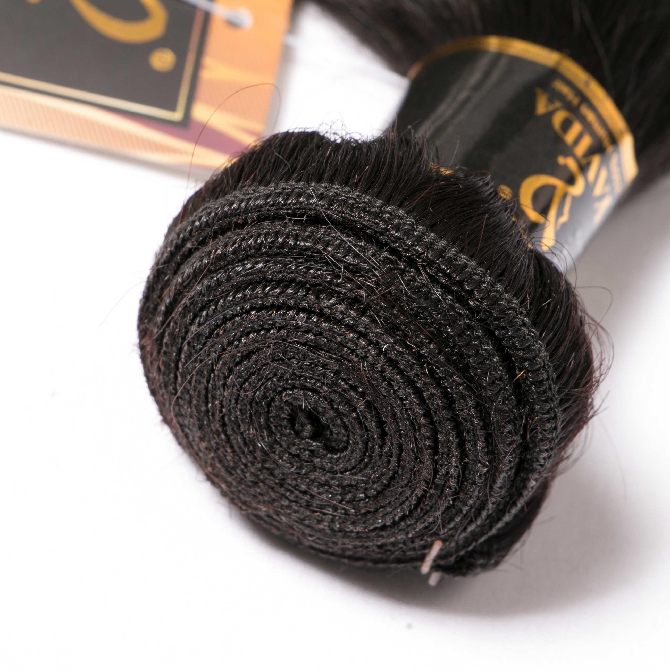 Yavida Straight Hair Bundles Weave Brazilian Human Hair Weave Bundles Non-Remy Hair Bundles 1/3/4 Piece