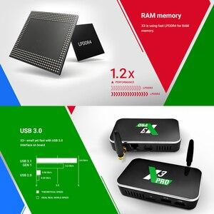 Image 4 - X3 Pro 4GB/32GB אנדרואיד טלוויזיה תיבת X3 קוביית 2GB/16GB חכם טלוויזיה תיבה אנדרואיד 9.0 S905X3 DDR4 RAM 2.4G/5G Wifi 1000M BT4.2 מדיה נגן