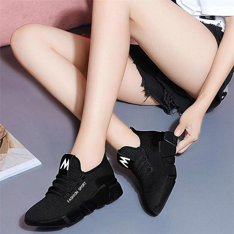 Autumn New Women Casual Shoes Fashion Breathable Walking Mesh Lace Up Flat Shoes Mixed Colors Sneakers Women