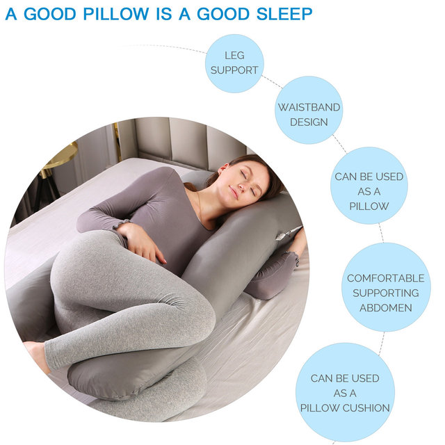U-shaped Pregnancy Pillows Comfortable Maternity Belt Body Pregnancy Pillow Women Pregnant Side Sleepers Cushion for Bed 2