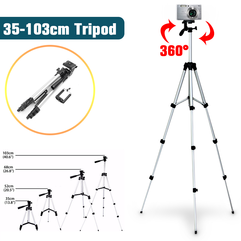 Extendable Mobile Smart Phone Digital Camera Tripod Stand Mount Holder Clip Set For Youtube Makeup Video Live