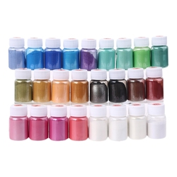 25 Colors Cosmetic Grade Pearlescent Natural Mica Mineral Powder Epoxy Resin Dye Pearl Pigment