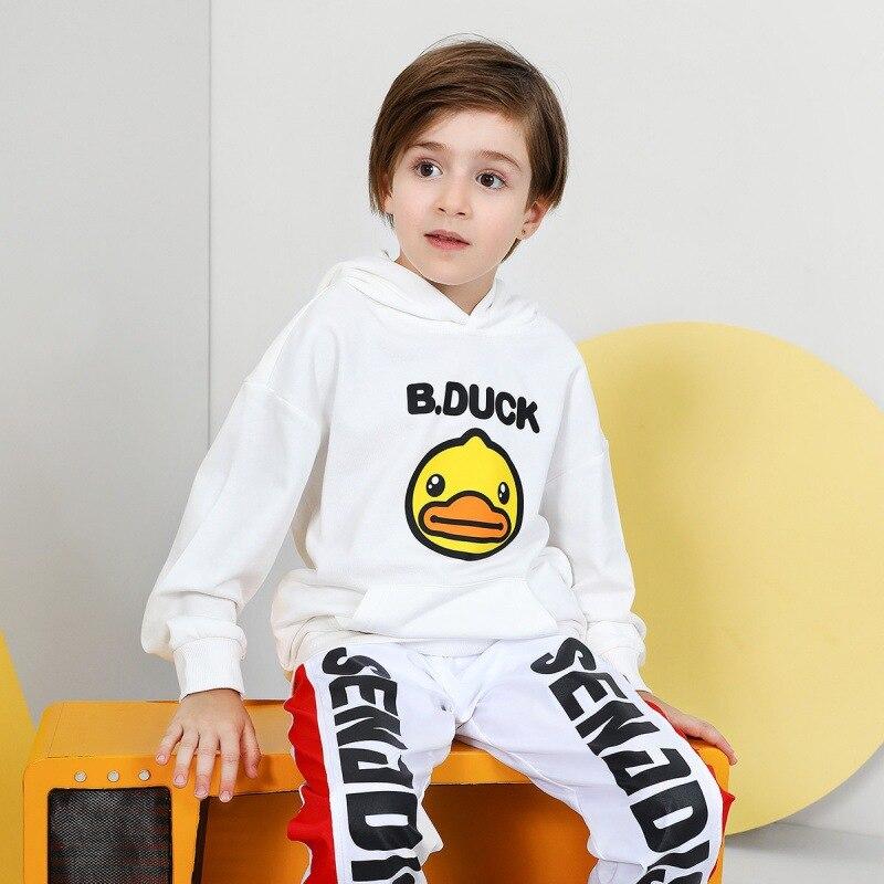 B. Duck Small Yellow Duck Childrenswear Spring And Autumn CHILDREN'S Sweater Hooded BOY'S Hoody Cartoon Girls' Sweater