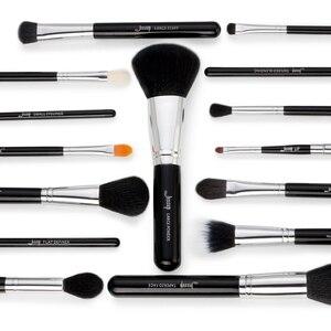 Image 5 - Jessup Pro 15 unids Maquillaje Pinceles Set Negro/Plata Cosmética maquillaje Herramienta Pincel Polvos Sombra de Ojos Delineador de Labios belleza