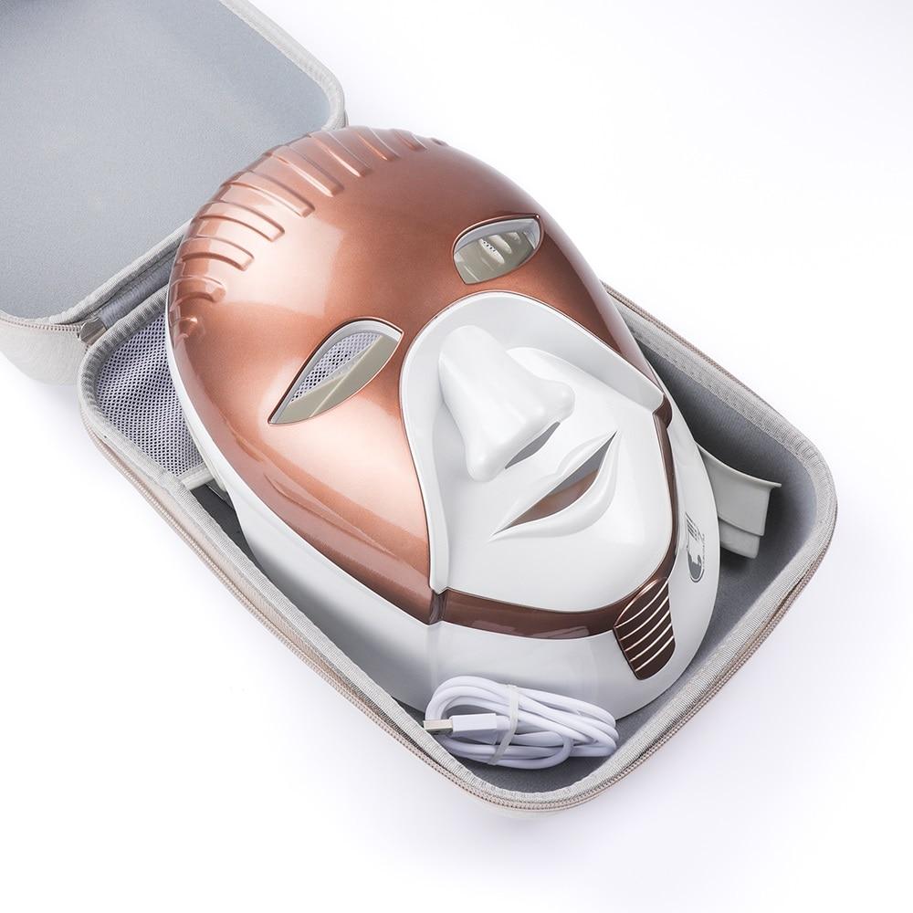 充電式 8 色 Led ライト光子顔ネックマスクしわにきび除去肌の若返り LED フェイスマスクネックスパ  グループ上の 美容 & 健康 からの null の中 2